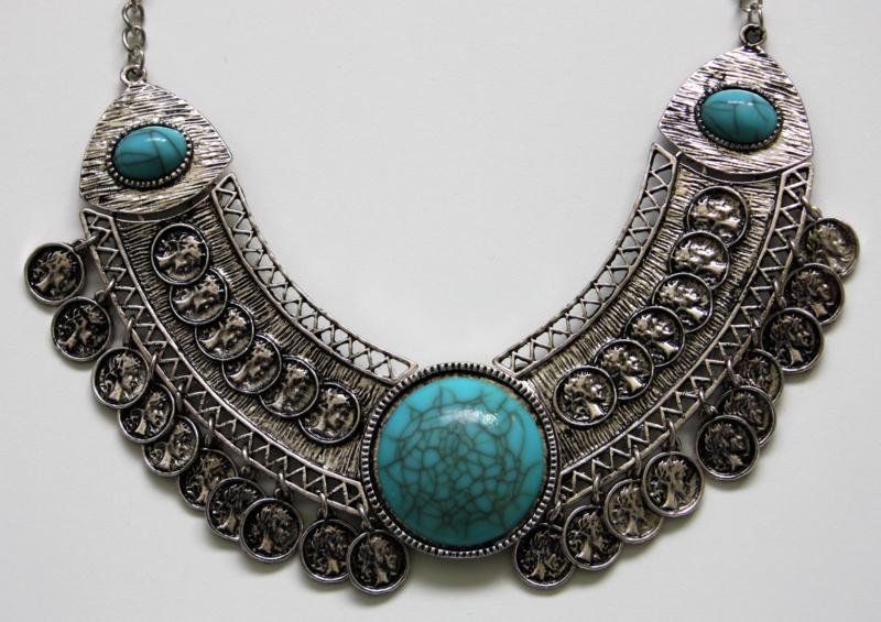 Statement Necklace Blue