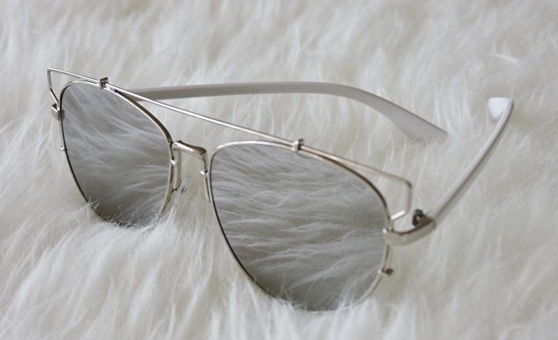 Mirror Sunglasses White