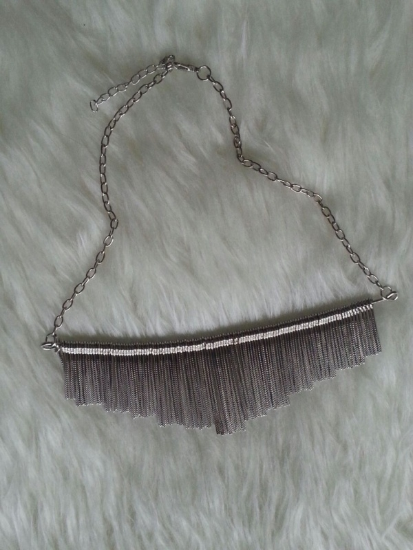 Silver Spike Necklace