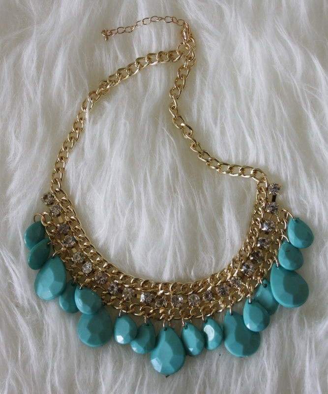 Blue Necklace Gold