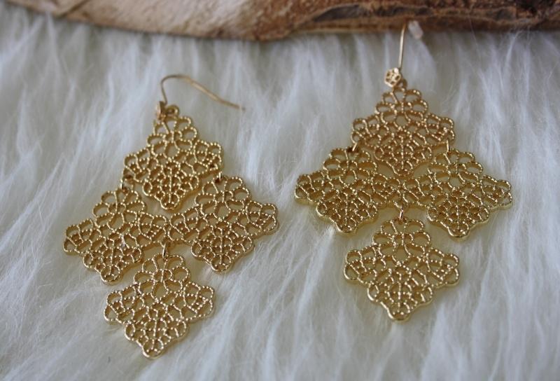 Gold Elegant Earrings
