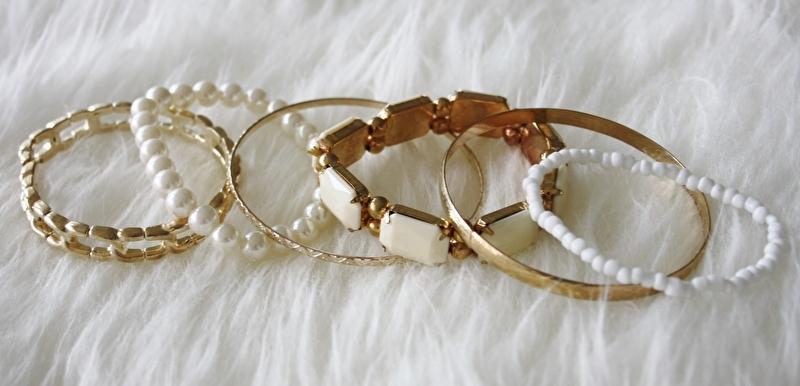 White Gem Bracelet