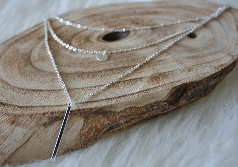 Silver Pearl Double Necklace