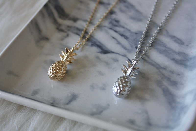 Pineapple Necklace Silver