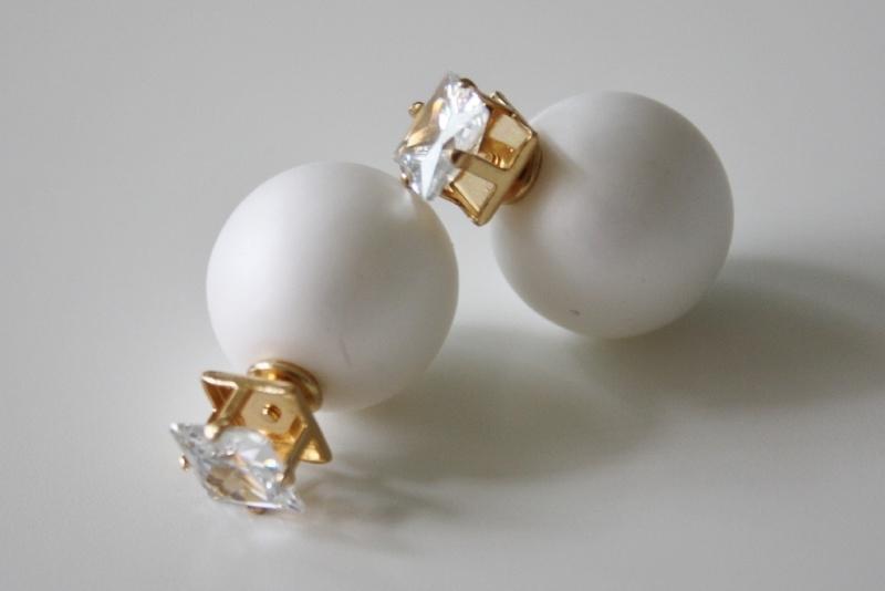 Diamond White Earrings Matt