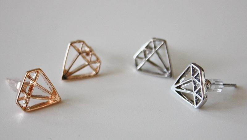 Diamond Earrings Gold/Silver