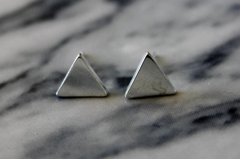 Triangle Silver Earrings