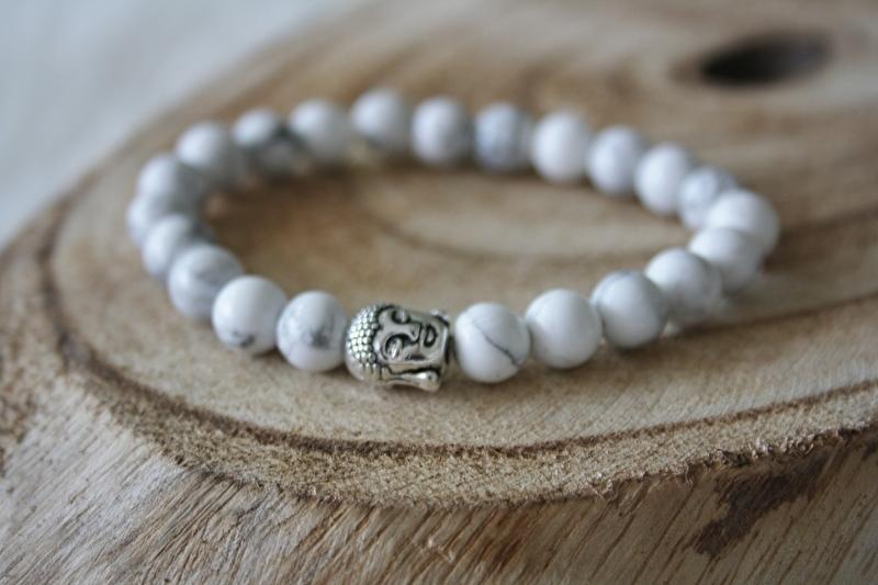 Marble Buddha Bracelet