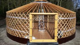 6-muurs Yurt met serre deurpaneel