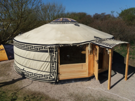 6-muurs Yurt type light met staldeur