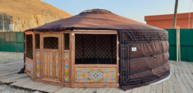 6-muurs Yurt type light met versiering