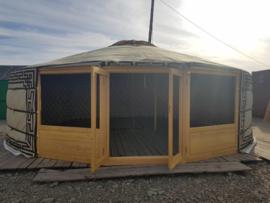 7-muurs Yurt / Ger Type : Light met serredeuren