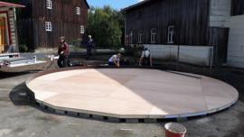 Platform met isolatie 6-muurs 6,75 diameter  35 m2