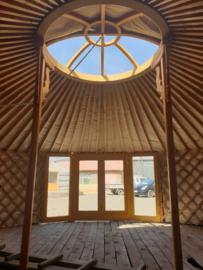 6-muurs Yurt met serre deuren en serre ramen