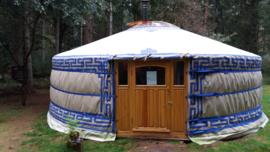 5-muurs Yurt met 3 ramen in het deurpaneel