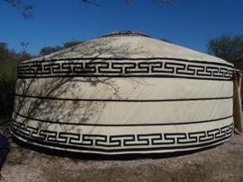 6-muurs Yurt type light met staldeur