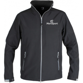 Softshelljas MenSport Heren/Unisex Zwart