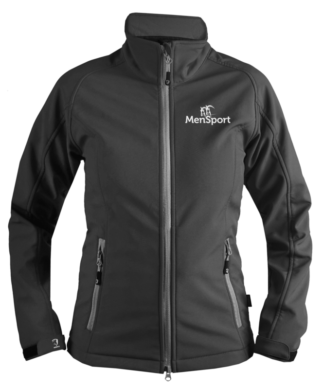 Softshelljas MenSport Dames Zwart