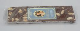 Nougat met chocolade en sinaasappelschil  reep á 100 gram