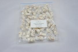 zak met 500 gram ind. verpakte nougatblokjes  Traditioneel (zacht), geschikt voor brievenbuspost !