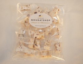 Nougat met frambozen,  zakje á 150 gram - past in brievenbus, verzendkosten slechts €  3,50 !