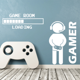 Muursticker gamer + game room loading combo deal