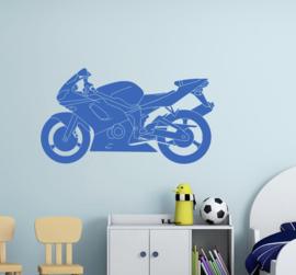 Muursticker motor fiets kinderkamer decoratie jongen