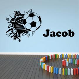 Nom Autocollant de football du mur