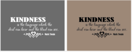Kindness is the language which the deaf can hear and the blind can see - Mark Twain