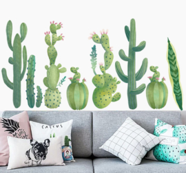 Muursticker cactus plant  groen strook / plint