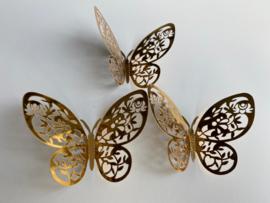 12 stuks gouden 3d vlinders muurdecoratie (6)