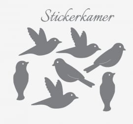 Muursticker vogels