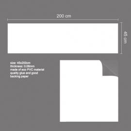 Muursticker Whitebord / krijtbord wit sticker groot