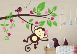 Muursticker aapje meisjeskamer