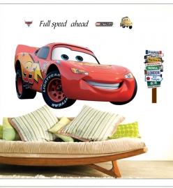 Muursticker Cars Lightning McQueen babykamer