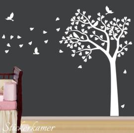 Muursticker boom kinderkamer / babykamer (kies je eigen kleuren)