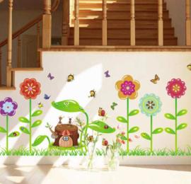 Muursticker bloemen - planten kinderkamer
