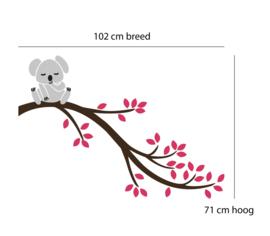 Muursticker koala op tak kinderkamer / babykamer