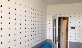 Muursticker driehoek triangels print / patroon babykamer
