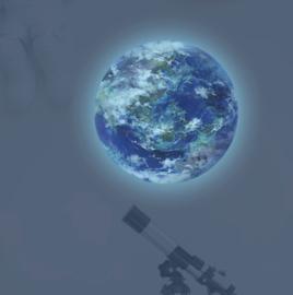 Muursticker glow in the dark aarde - wereldbol kinderkamer