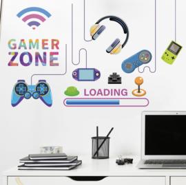 Muursticker gamer / gaming - gamer zone jongenskamer