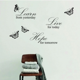 Quote: Learn from yesterday, Live for today, Hope for tomorrow