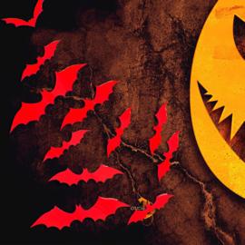 12 stuks 3d vleermuizen voor Halloween (Rood)