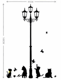 Muursticker katten - poes