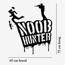 Muursticker noob hunter jongenskamer