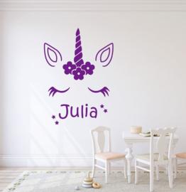 Muursticker unicorn  babykamer  / kinderkamer  meisjes