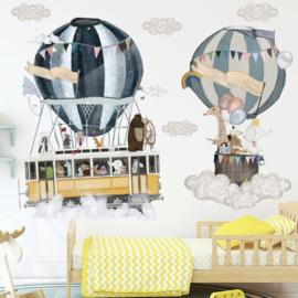 Muursticker luchtballon besstenboel kinderkamer