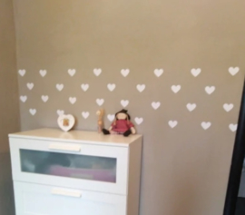 Muursticker hartjes print / patroon babykamer kinderkamer