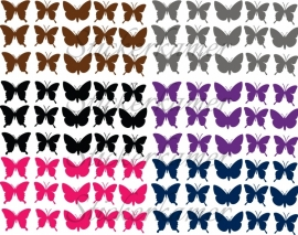 15 stuks muursticker vlinders