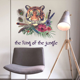 Tijger jungle muursticker